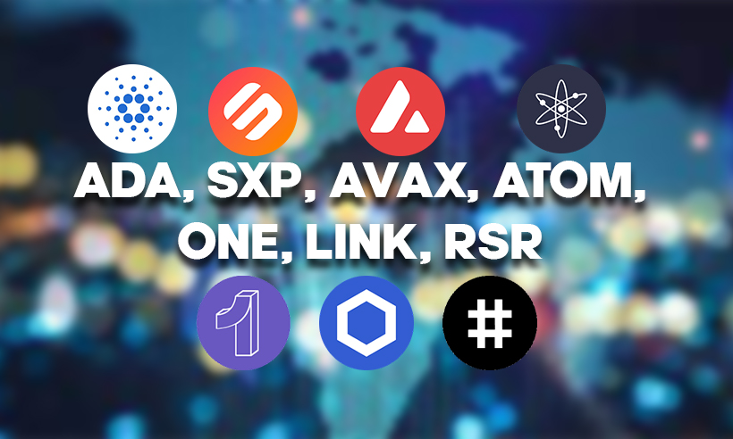 ADA, SXP, AVAX, ATOM, ONE, LINK, RSR: Crypto Market Update
