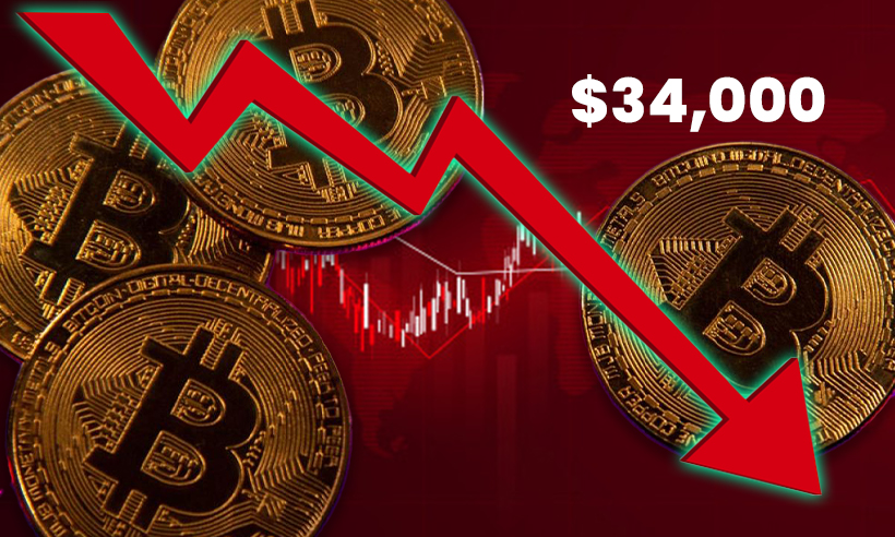 Bitcoin Drops Below $34,000 as Other Cryptos Lose Momentum