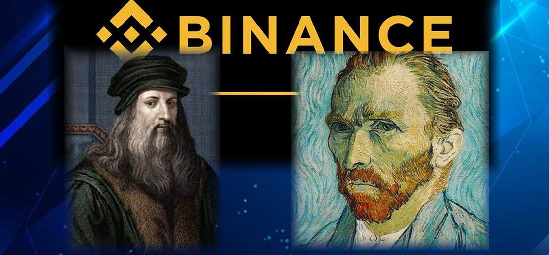 NFT Leonarda da Vinciho a Van Gogha na Binance