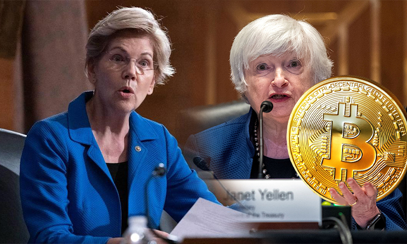 In A Letter to Yellen, Sen. Elizabeth Warren Calls for More Crypto Regulations