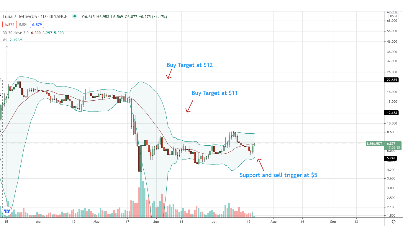 LUNA Price Daily Chart for July 22