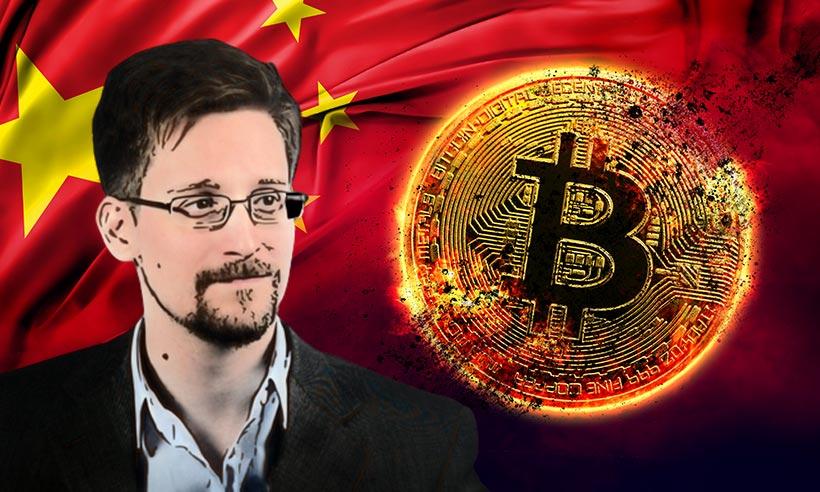 China's Crypto Ban Has Made Bitcoin Even Stronger: Edward Snowden