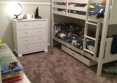 Organised kids bedroom
