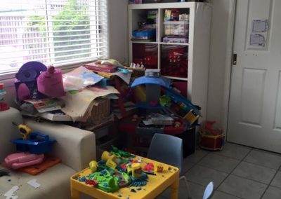 """4 of 5 """"Before"""" showing the other corner of this great kids playroom"""