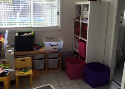 """5 of 5 """"After/Partial"""" with the bookshelf sorted and the Ikea drawers which you can now see!"""