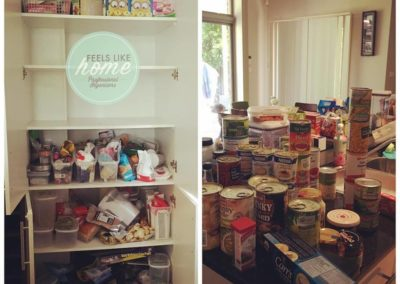 """Before"" of a pantry make over"