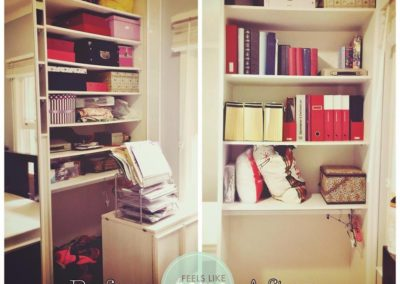 Organised wardrobe/filing space