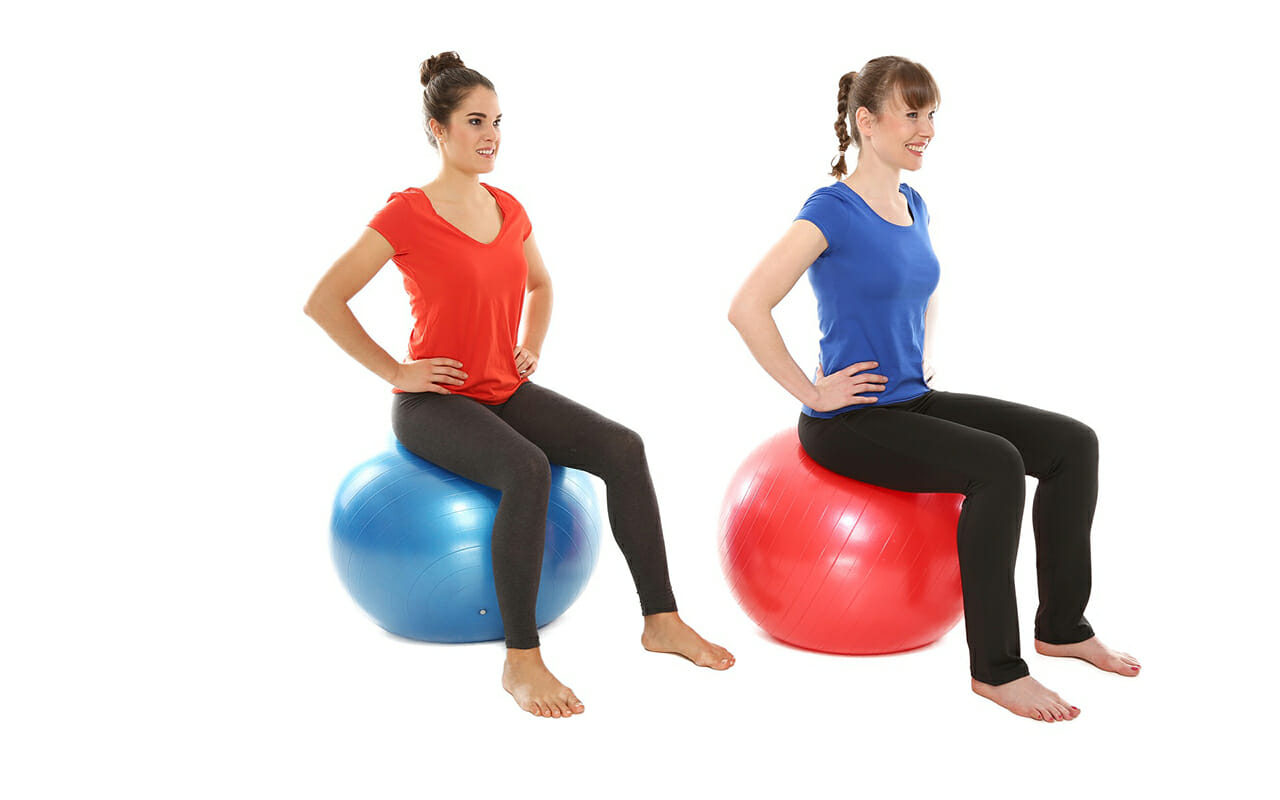 How-to-look-after-your-Pelvic-Floor-women-sitting-on-exercie-ball