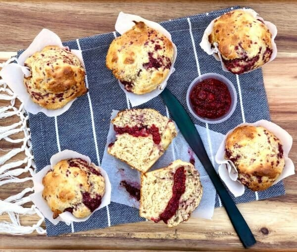 health benefits chia seeds coconut sugar cacao Low Fat Raspberry Chia Seed Jam Muffins