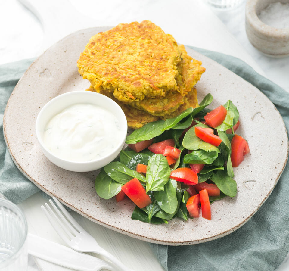 Turmeric Chickpea Patties