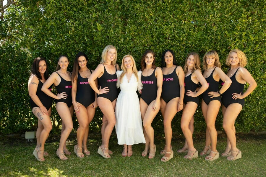 Hedge and group swimsuit