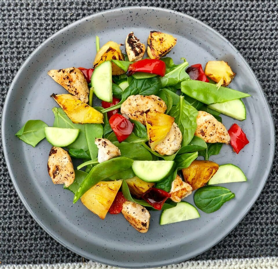 Grilled Chicken & Pineapple Salad Recipe