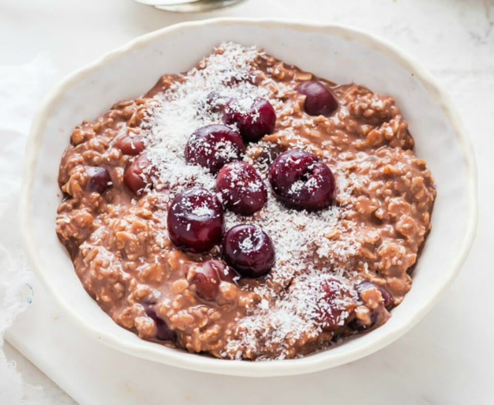 Cherry Ripe Porridge