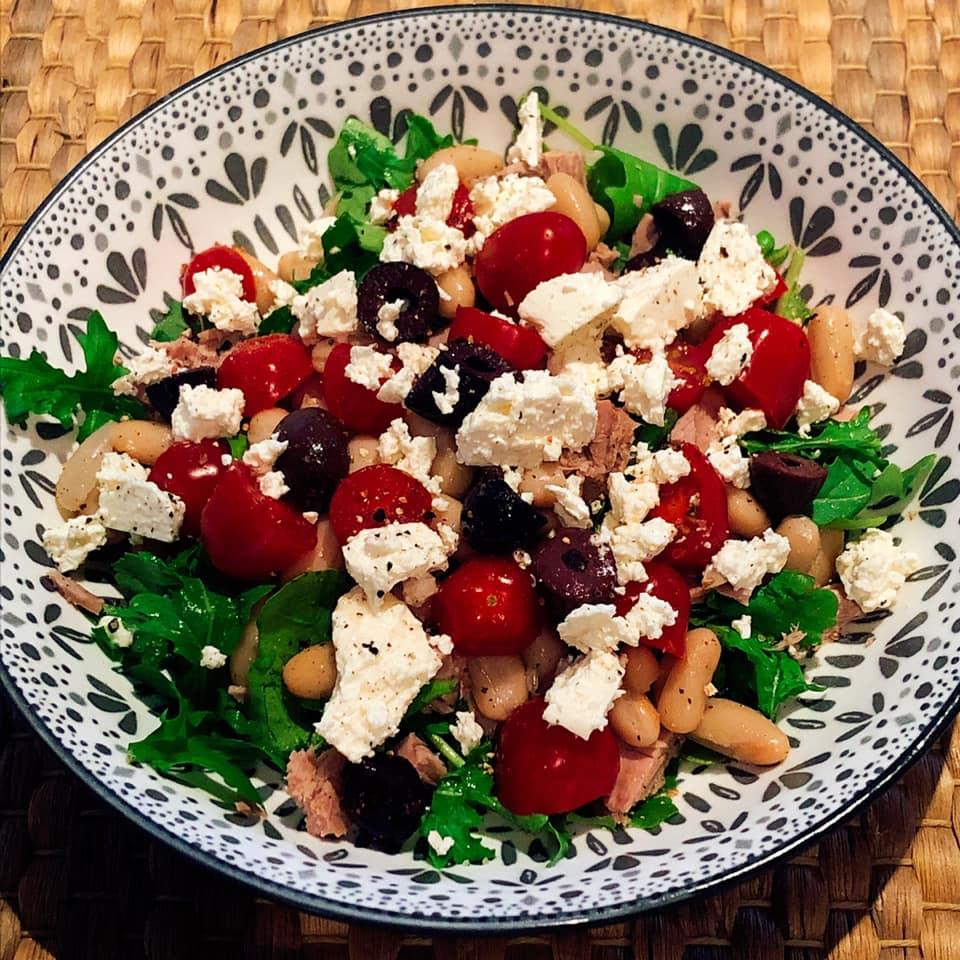 olive feta tomato tuna salad