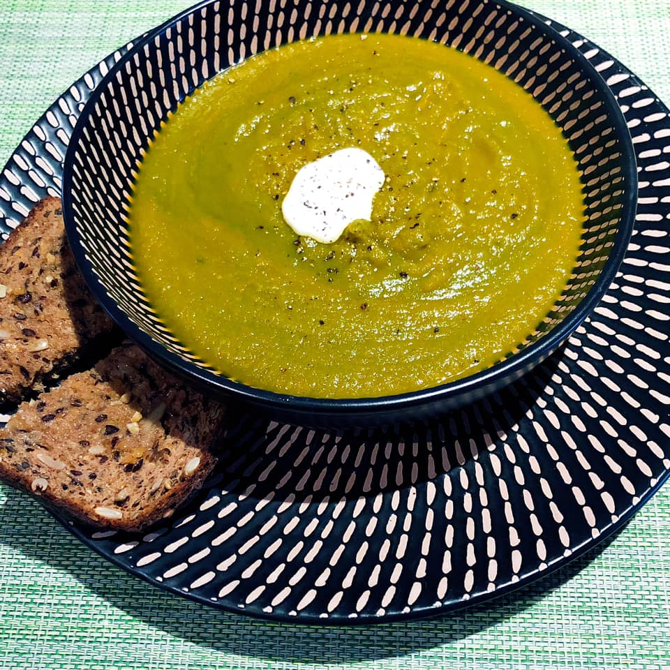 carrot ginger and spinach soup