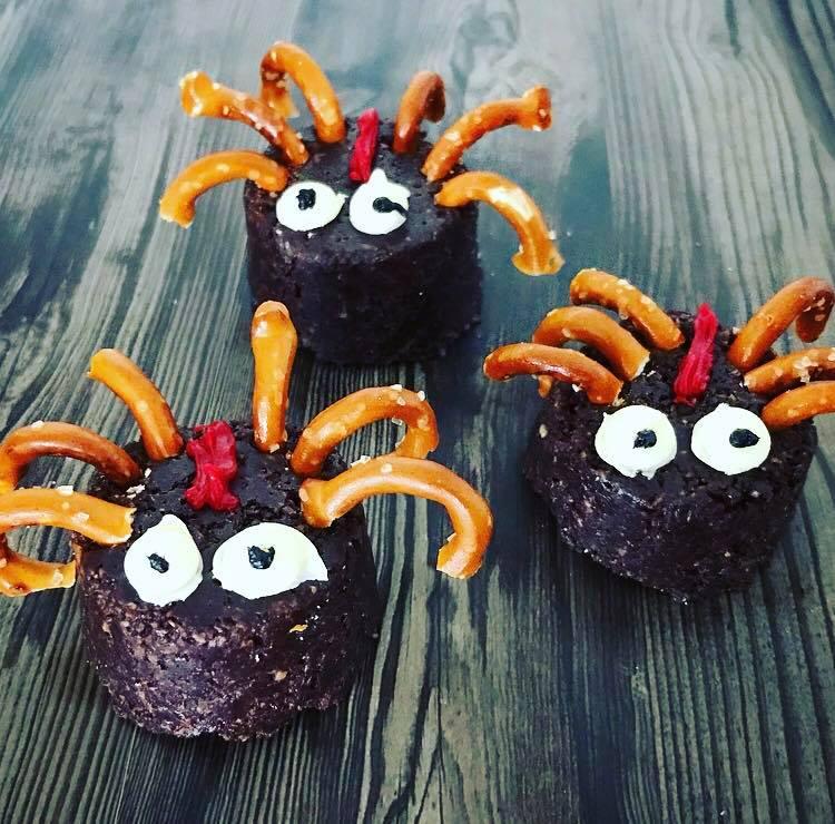 Halloween treats weet bix slice spiders sophie barrett