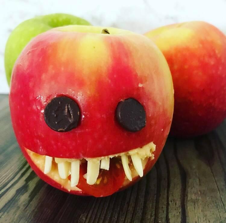 Sophie Barrett halloween treat apple monsters