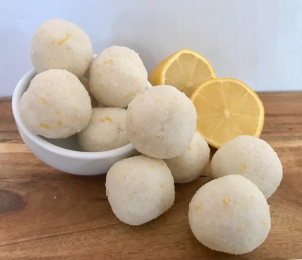 Easy Lemon and Coconut Bliss Balls