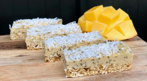 No-Bake Mango And Coconut Super Slice