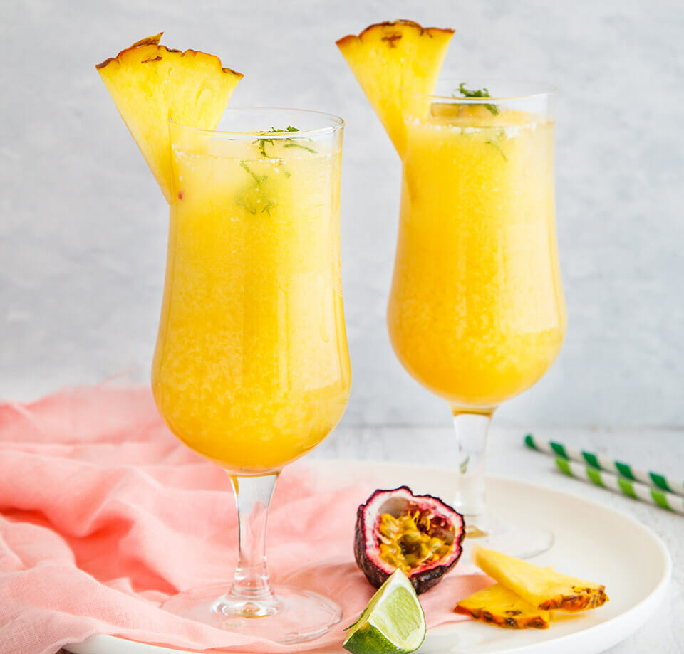 Passionfruit And Pineapple Mocktail
