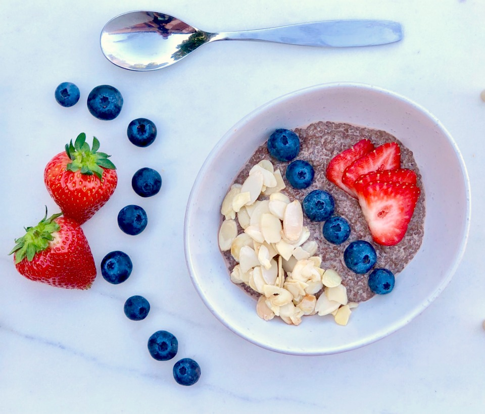 Maple Roasted Almond & Chia Seed Breakfast Bowl