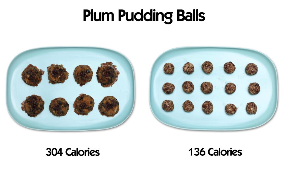 plum pudding balls