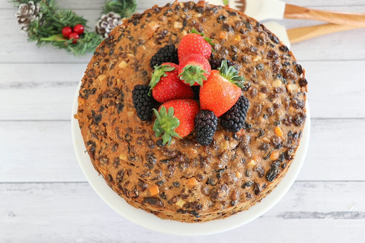 healthy mummy Christmas fruit cake