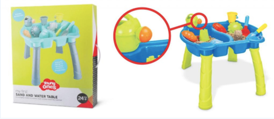 sand and water table recall
