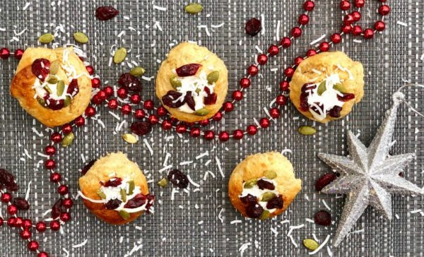 Stuffed Christmas Mini Muffin