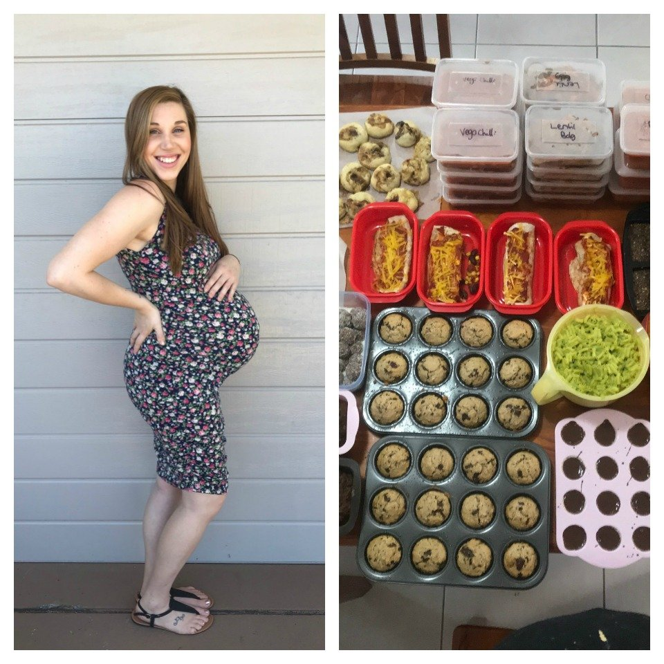 Pregnant-Jessica-May-Mcgill-Meal-Prep