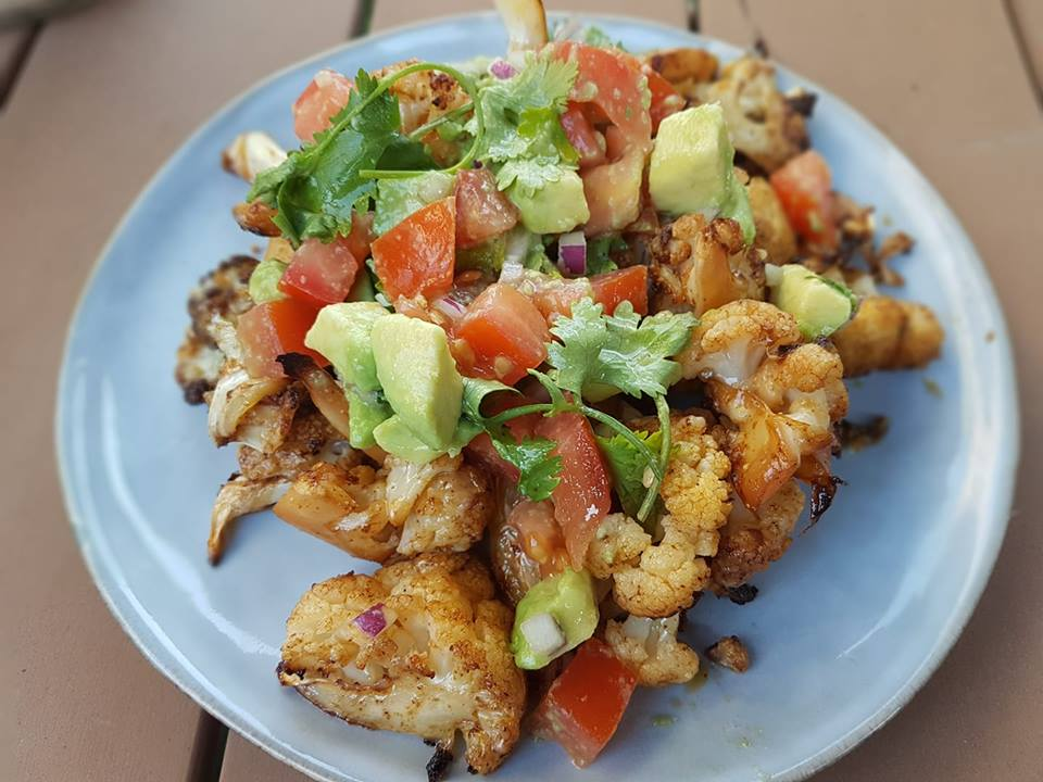 cassie mckay roasted cauliflower nachos
