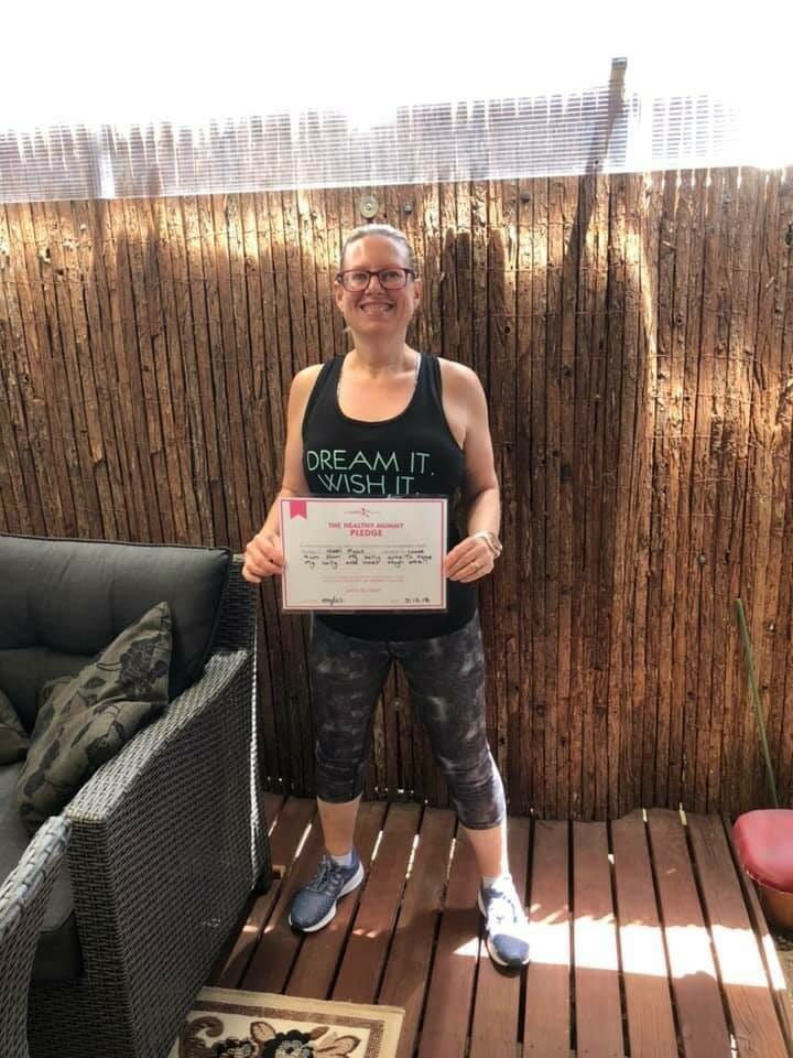 Nikki shares her 2019 Healthy Mummy Pledge