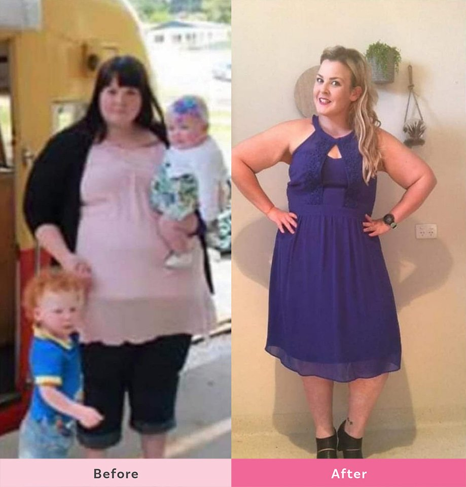 Amy Atkinson lost55kg
