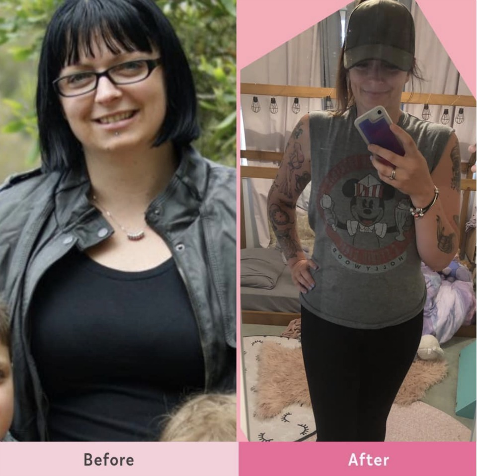 Megan-Jane-before-after-23kg-weight-loss