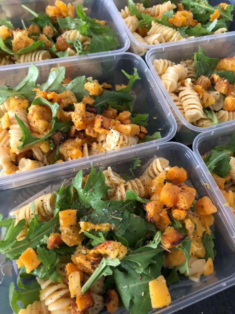 Pumpkin-pinenut-pasta-meal-prep-new-mum-Jessica