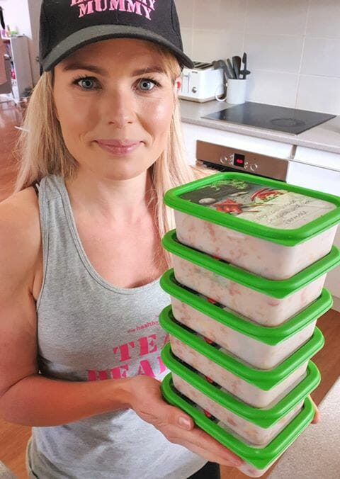 mum credits meal prepping on a budget to maintaining weight and saving thousands