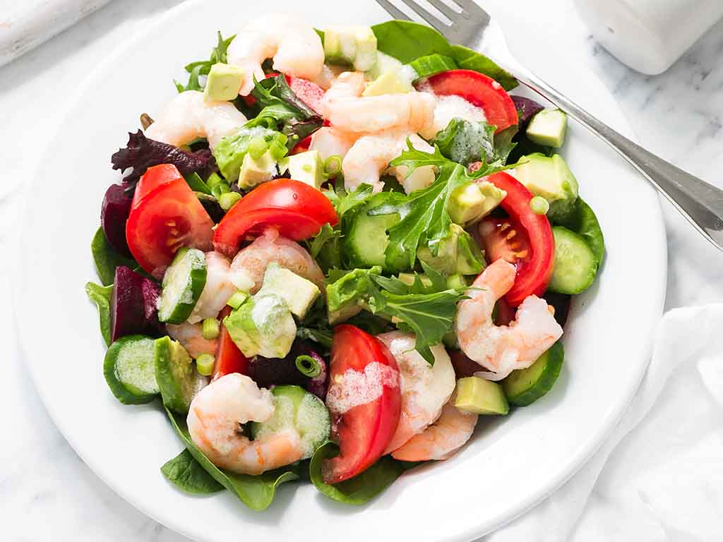 keto lite: safe for mums Simple-Prawn-and-Garden-Salad