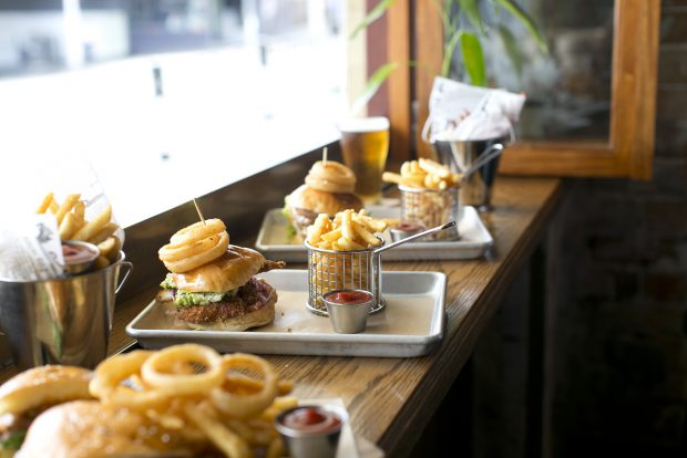 The Burwood Hotel offers a range of burgers