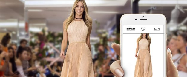 Myer's world-first 'catwalk to cart' shopping experience