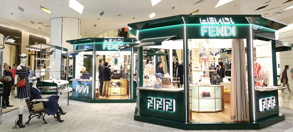 March store windows: Fendi Kiosk Siam Paragon