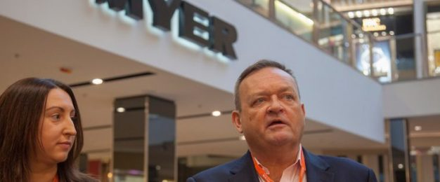 Myer returns to profit, sales still down
