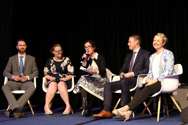 Some of the brightest emerging stars from the beer, wine, spirits and retailing sectors, during a panel discussion hosted by journalist Annabel Crabb