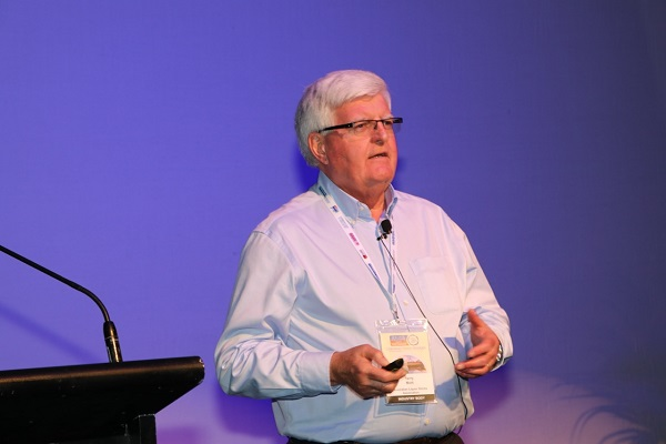 Terry Mott addresses the first day of the Australian Retail Drinks Conference