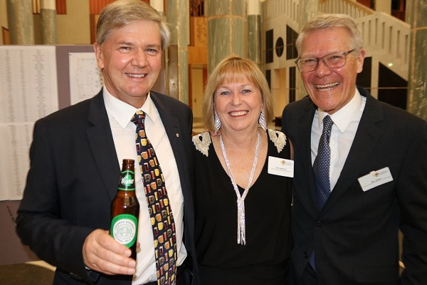 Dr Tim Cooper, Faye Hartley and Mal Higgs