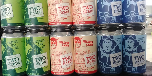 Two Heads Brewery's beers
