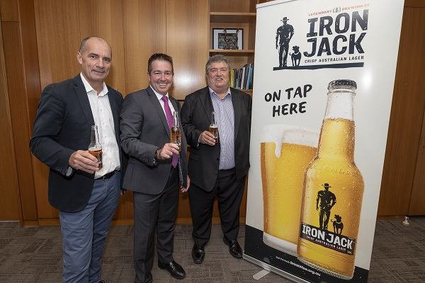 Lion Managing Director James Brindley details the company's drought support with NSW Minister for Racing Paul Toole and Charles Alder from Rural Aid