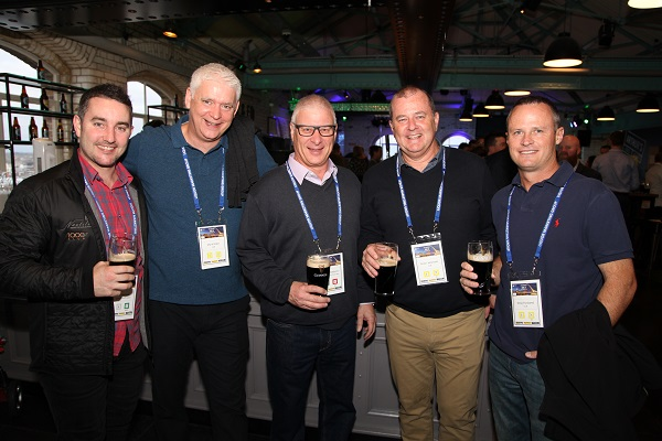Ty Menzies, Mark Blake, Wayne Dewberry, Peter Yeomans and Greg Husband at the LMG conference opening night the Guinness Storehouse, Gate of St James, Dublin