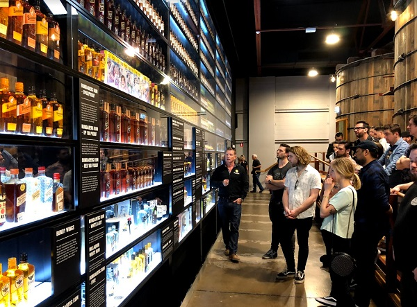 The visitor centre includes a Bundaberg wall of rum