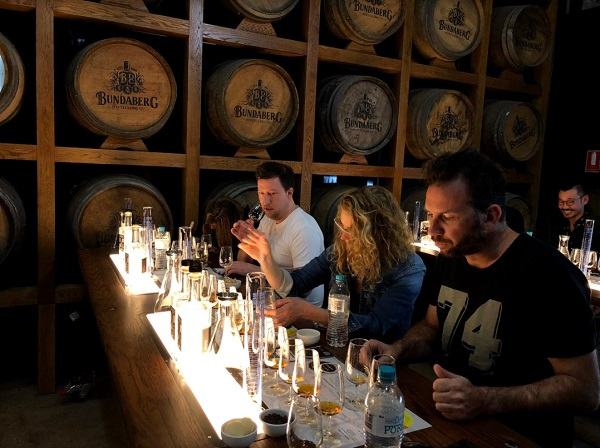 Working through the rum blending master class