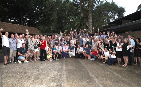 The ILG Conference crew about to head off on an after hours safari through Singapore Zoo